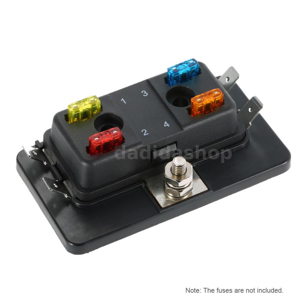 4 Way Mini Blade Fuse Box Holder Apm Atm 5a 10a 25a 12v 24v For Car The Game This Is Suitable All Kinds Of Automotive And Marine Applications Including 32v Systems Maximum Voltage