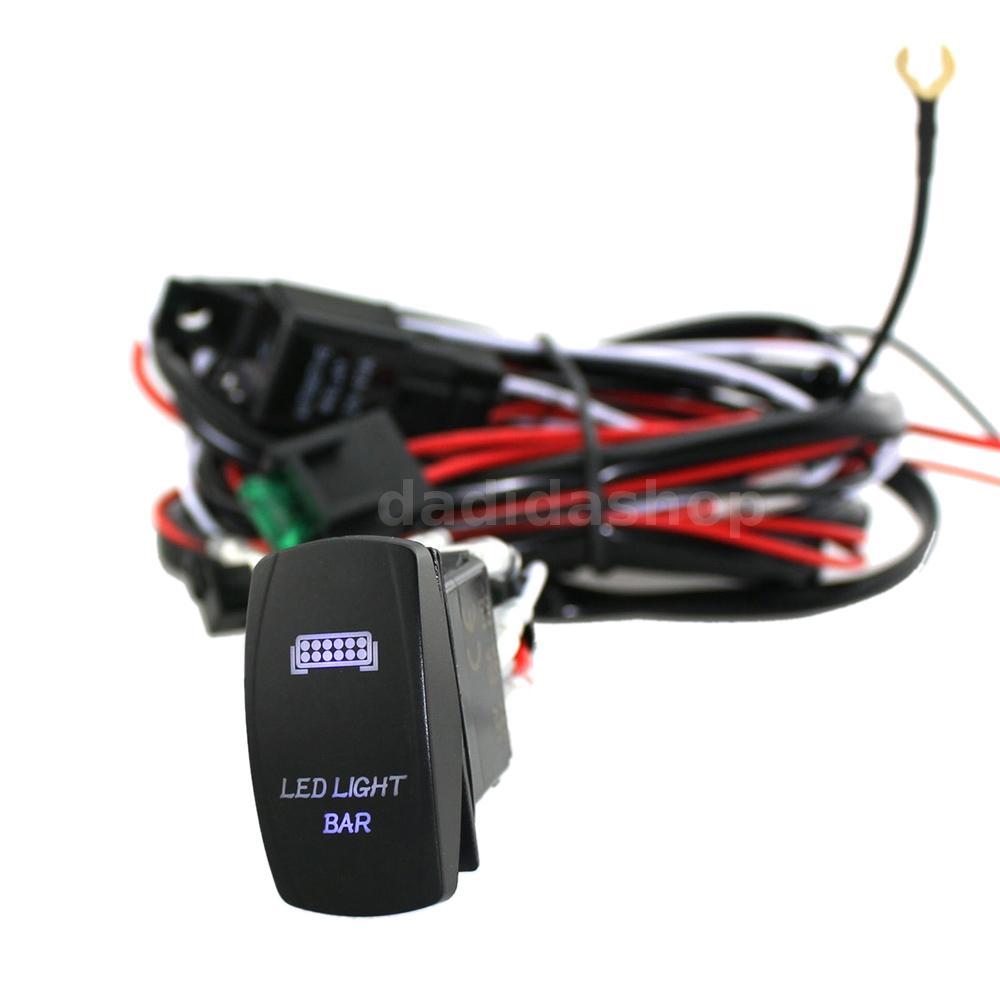 led light bar rocker on switch with relay wiring harness kit 12v 40a e2i9 ebay